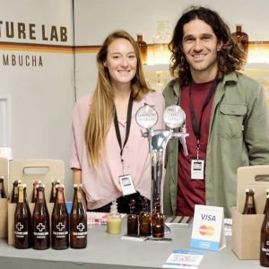 Jacque and Amy with Kombucha
